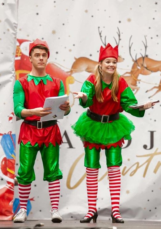 Lulu and Jonathan Elf at the David Jones, Santa's Grand Arrival Concert