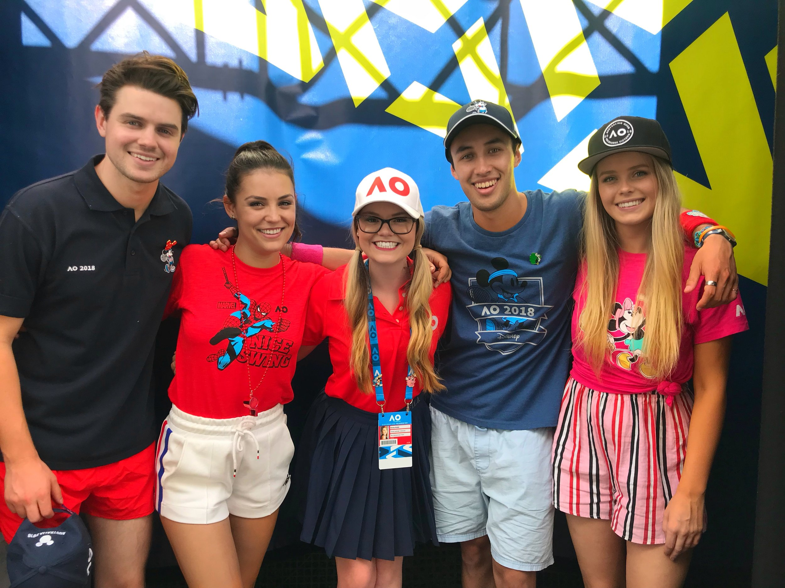 Australian open fun with the team from Disney's Hangin' with.