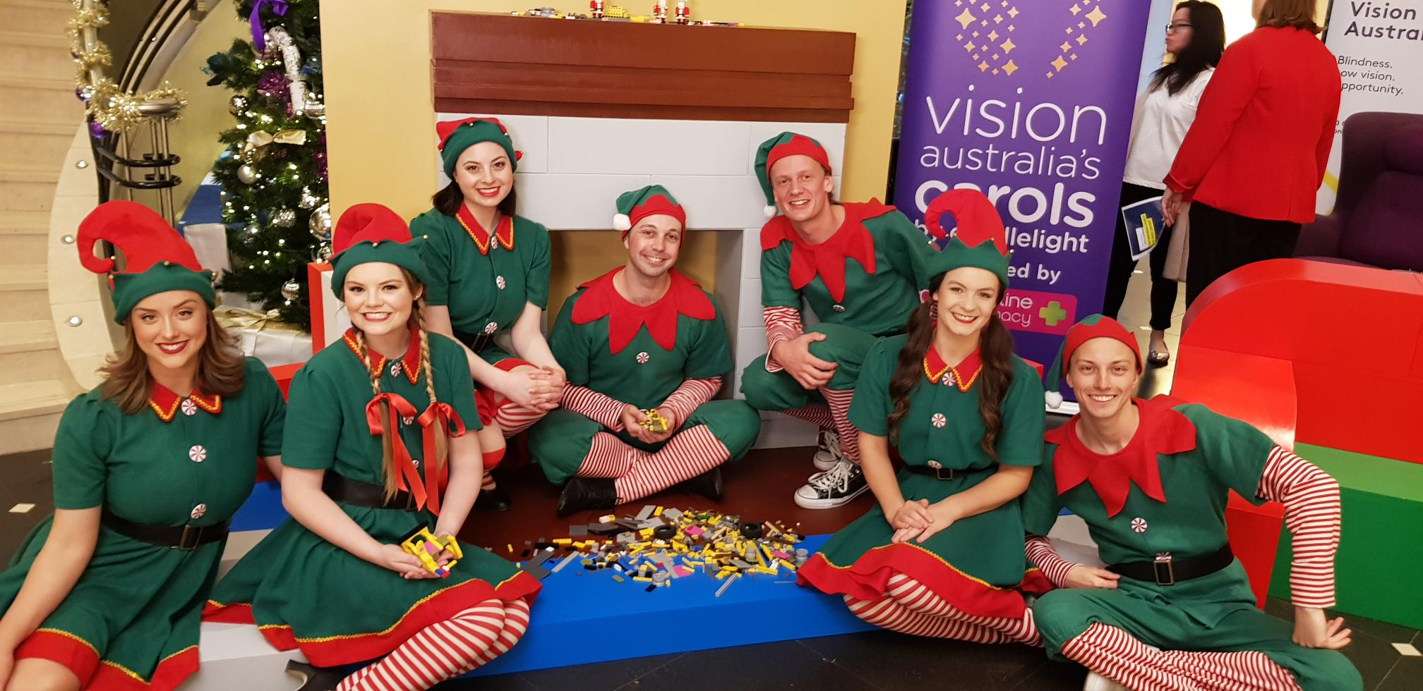 Vision Australia Carols By Candlelight Launch- Elf- 2018