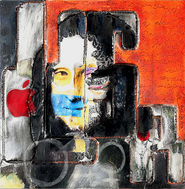 Lisa  (2010) | tableau, aluminium |100 x 100 cm | 1/1