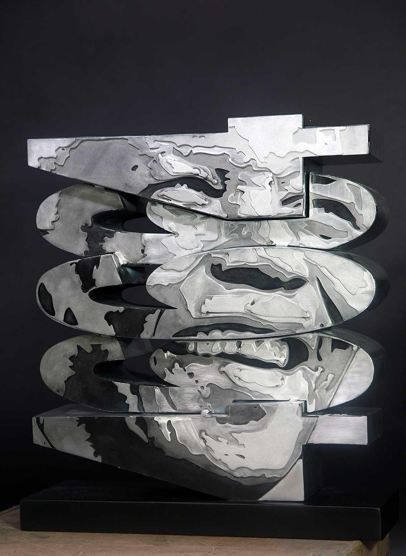 46664  (2014) | aluminium | 56 x 60 x 18 cm | oeuvre originale