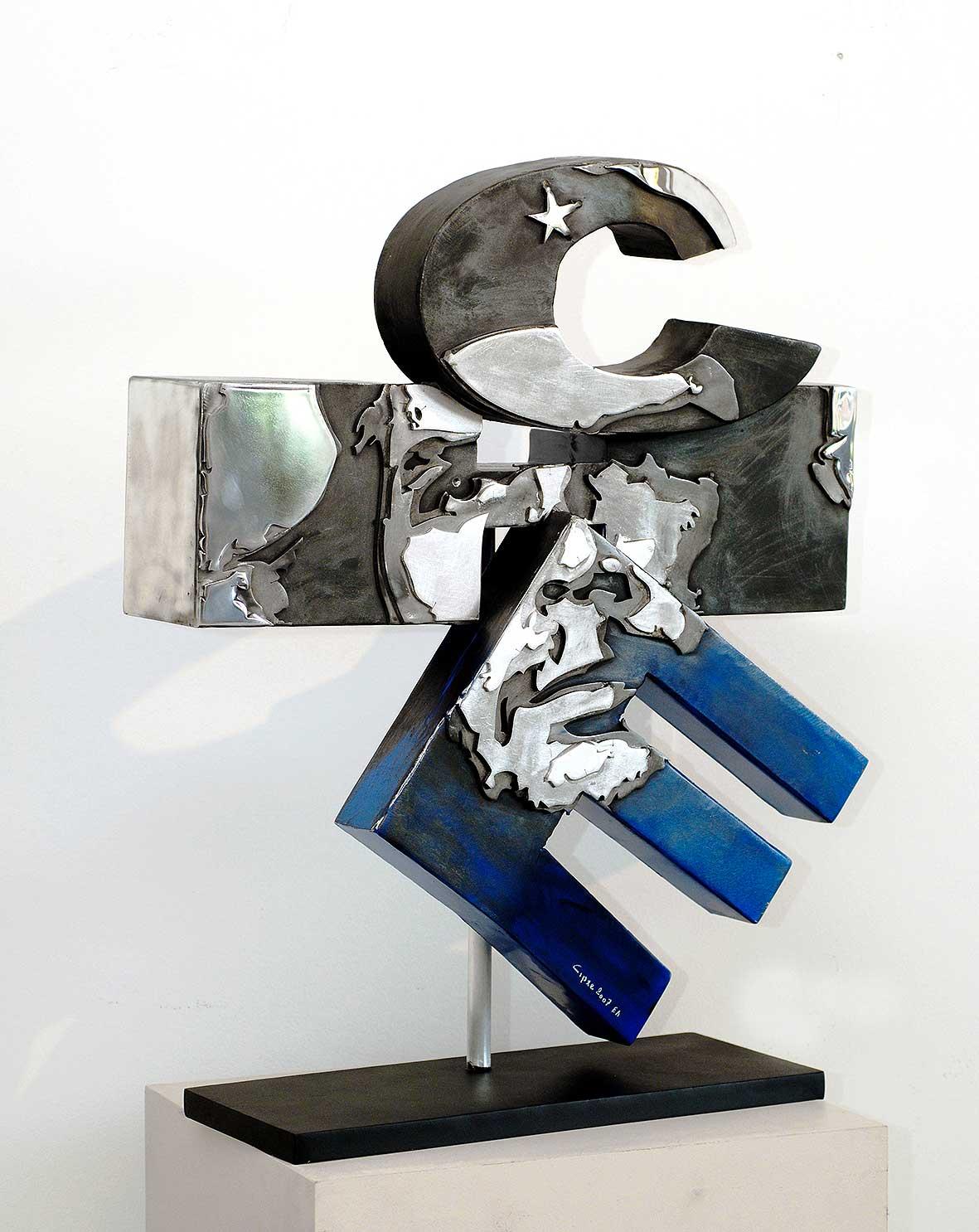 Ché (2007) | aluminium | 85 x 65 x 25 xm | oeuvre originale