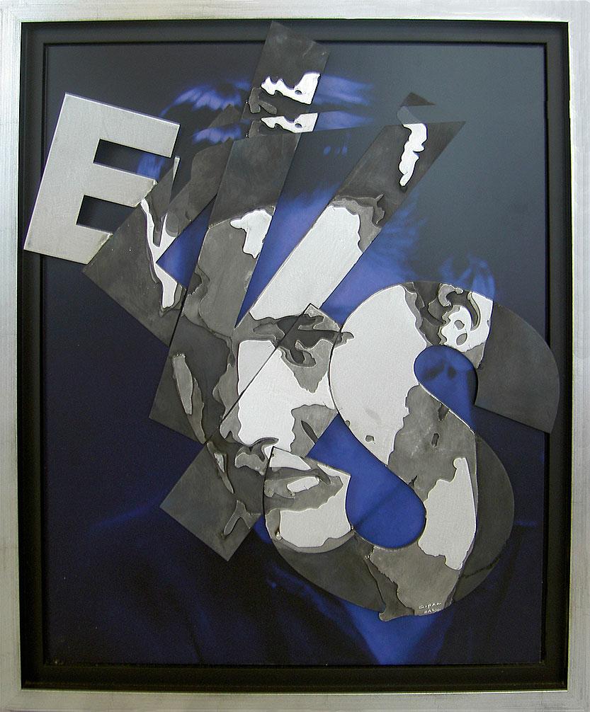 Elvis  (2008) | tableau, aluminium | 90 x 70 cm | oeuvre originale