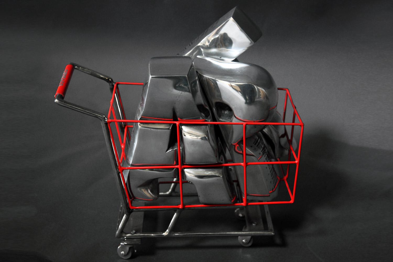 Market  (2013) | aluminium | 45 x 40 x 17 cm |oeuvre originale