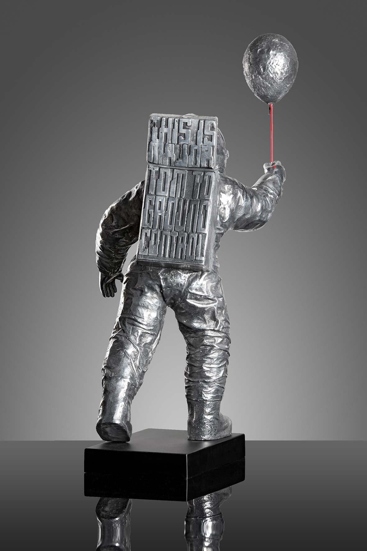 Major Tom  (2015) | aluminium | 80 x 25 x 37 cm |oeuvre originale | © Jean-René broyer