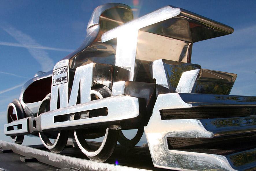 Locomotive  (2009) | aluminium | 120 x 70 x 30 cm | 1/1