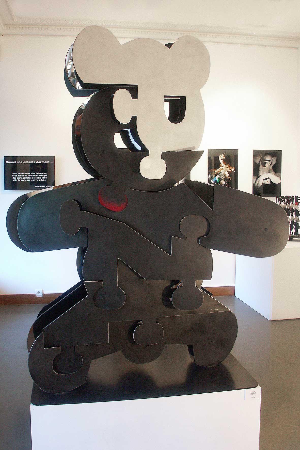 Puzzle  (2005) |aluminium, inox miroir | 190 x 150 x 70 cm | oeuvre originale