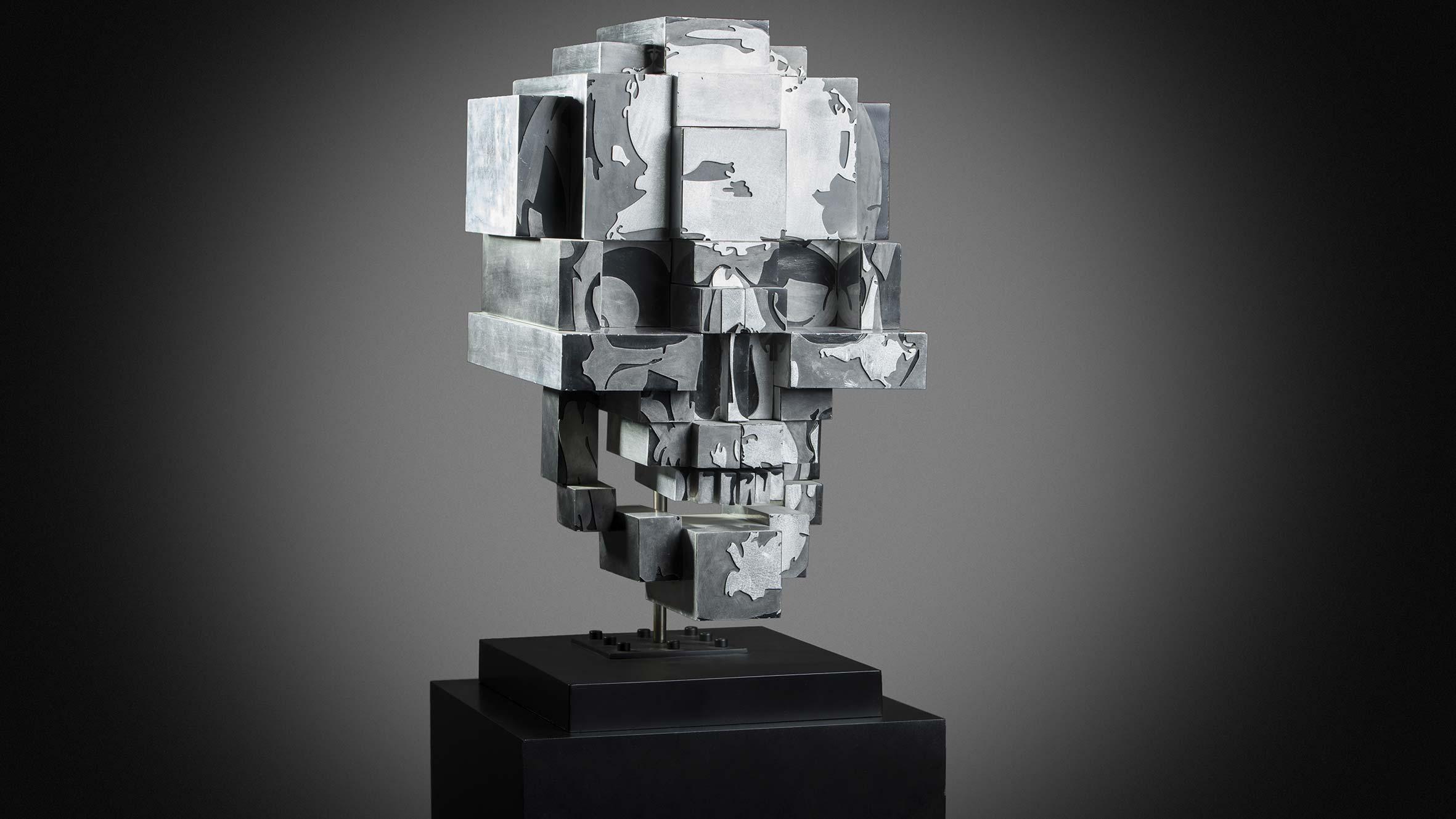One More  (2011) | aluminium | 70 x 35 x 45 cm | oeuvre originale | © Jean-René Broyer