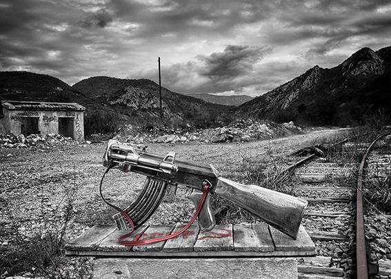 No Comment  (2016) | aluminium| 25 x 54 x 13 cm | oeuvre originale| © Jean-Pierre Rey