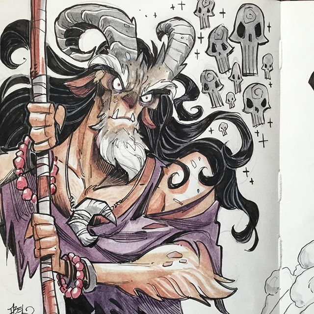 Here's some stuff from the sketchbook - drawn during Supanova Sydney, just for fun. Swipe for more ➡️. #faun #fantasyart #sketch #watercolour #moleskineart #moleskinesketchbook