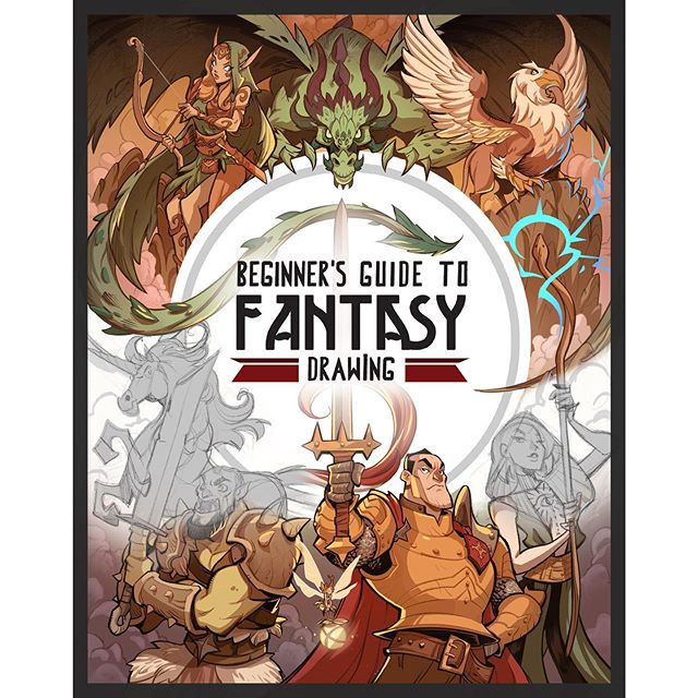 Hey! I did this gig earlier in the year, this is the cover for Beginners Guide to Fantasy drawing which you can now pre-order on Amazon! I did the entire first chapter on the basics of drawing materials, anatomy, colour and more.  A challenging but rewarding job, cant wait to hold the book in my hands! Just search the title in amazing to get your pre order in, and I'll post more when it's officially released, hope you like the cover and the rough sketches! #fantasydrawing #procreate #procreateart #drawing