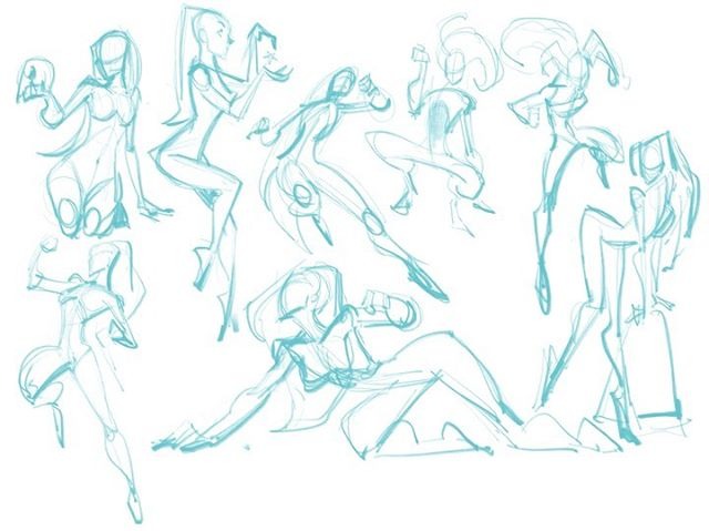 I'm in a sharing mood - here are some quick gesture sketches. #pinupgirl #pinup #drawing #drawinggirls #gesturesketch #ipadproart #procreateart #digitalsketch
