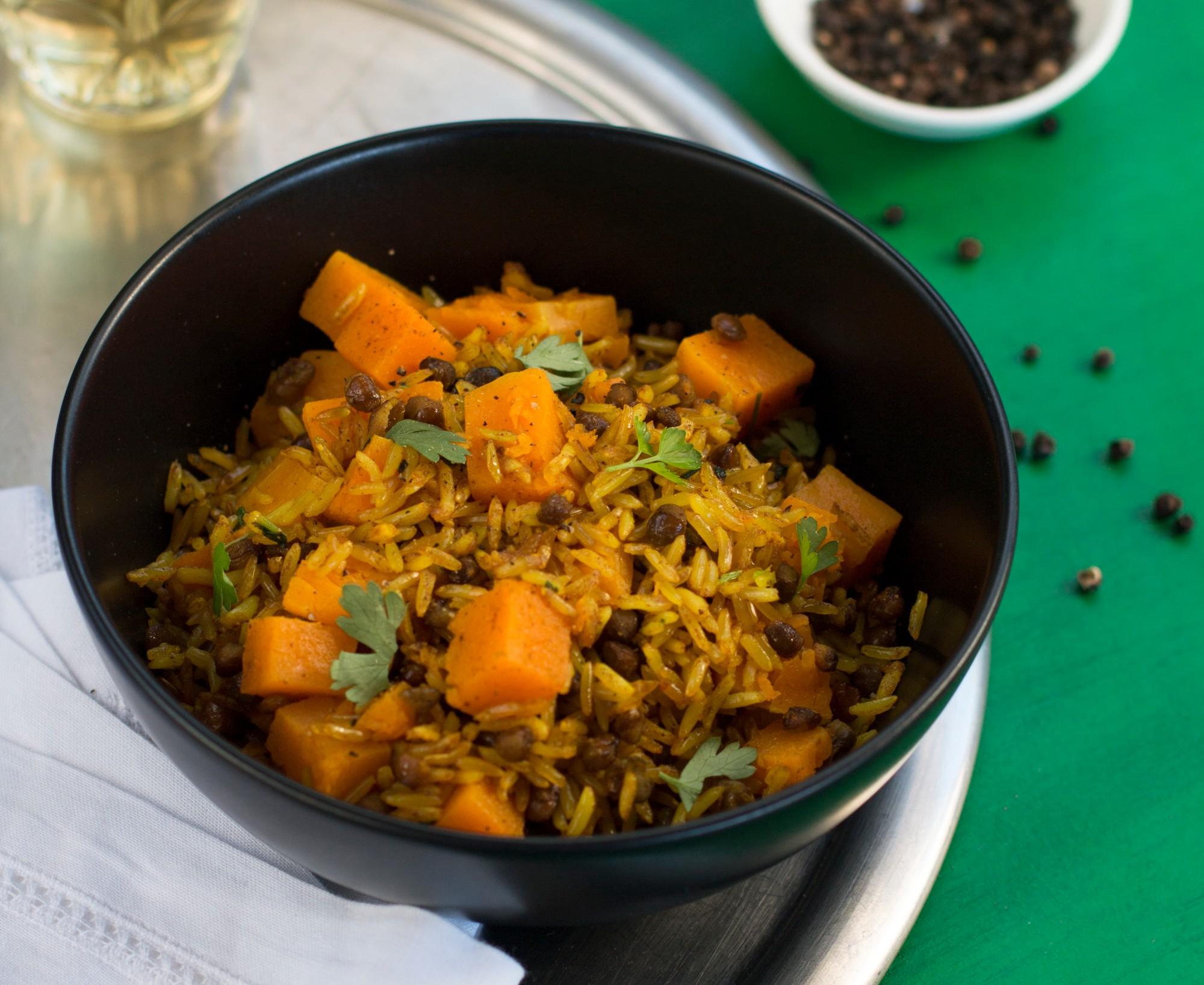 Pure South Press Avocado Macadamia Oil Rice Lentils Recipe