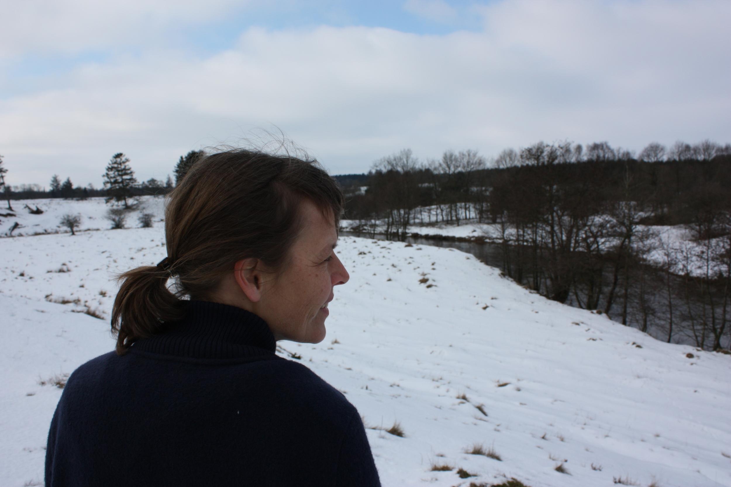 Marianne Jørgensen valgte et sted ved Sdr Felding, hvor hun kunne bruge sine helt særlige evner til at inddrage de lokale i sit projekt.
