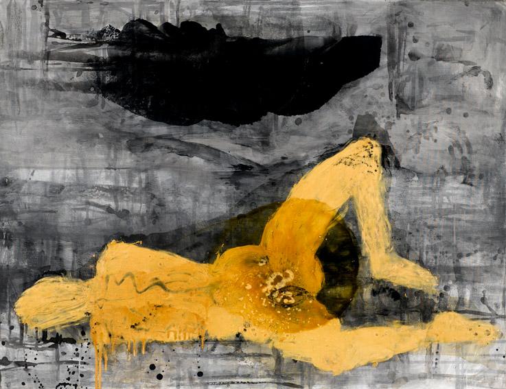 Tine Hind Ude af mig selv/eller... Blandform 130 x 170 cm 2007