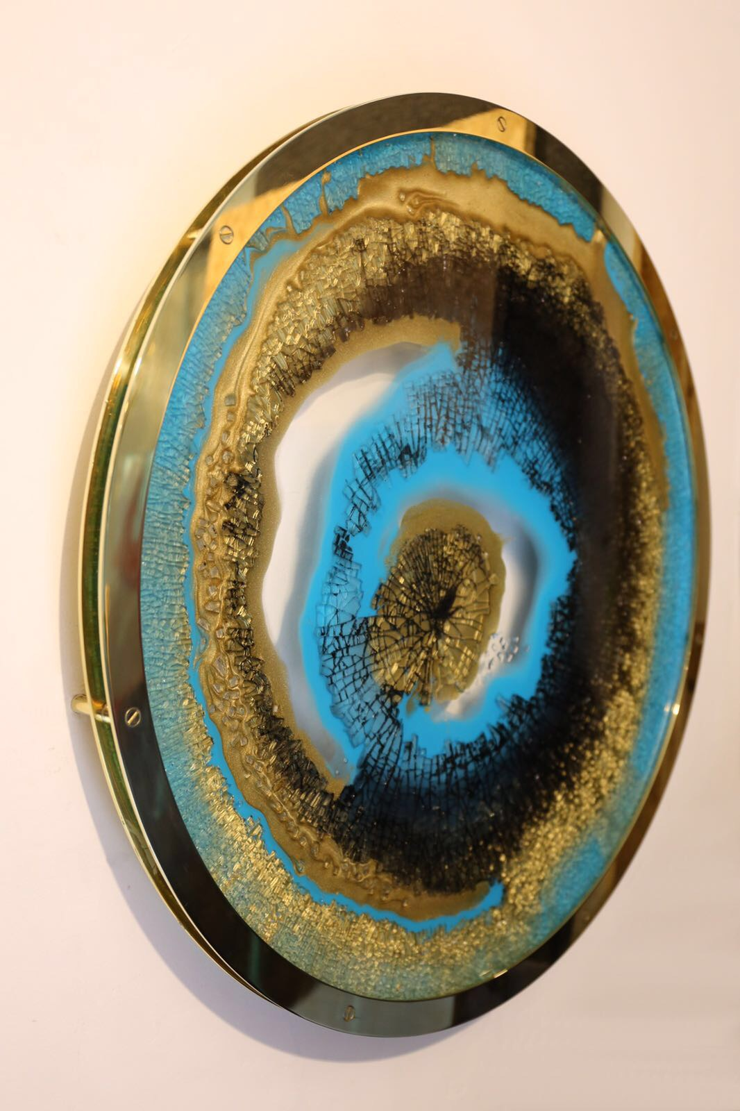 Mirror Polished Brass Artwork Wall Frame