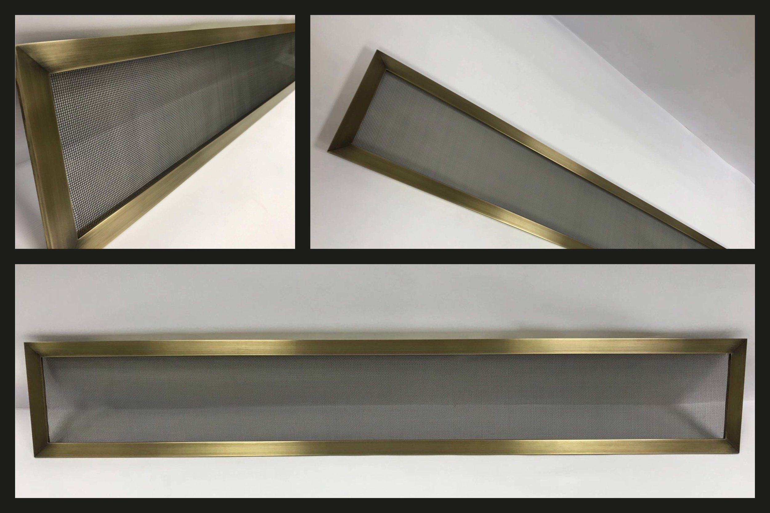 Antique Bronze Finished Brass Grille