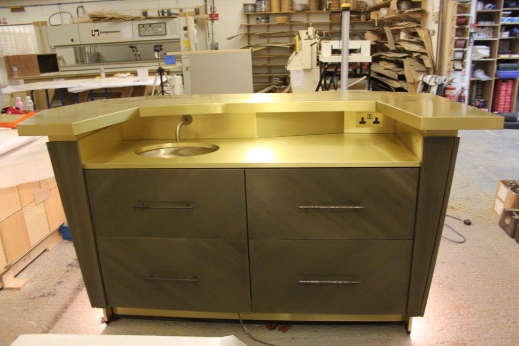 Satin Polished Brass Island Unit Worktop