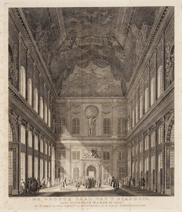 The common room of the city hall. Paulus van Liender (1765).                   (Image: Stadsarchief Amsterdam)