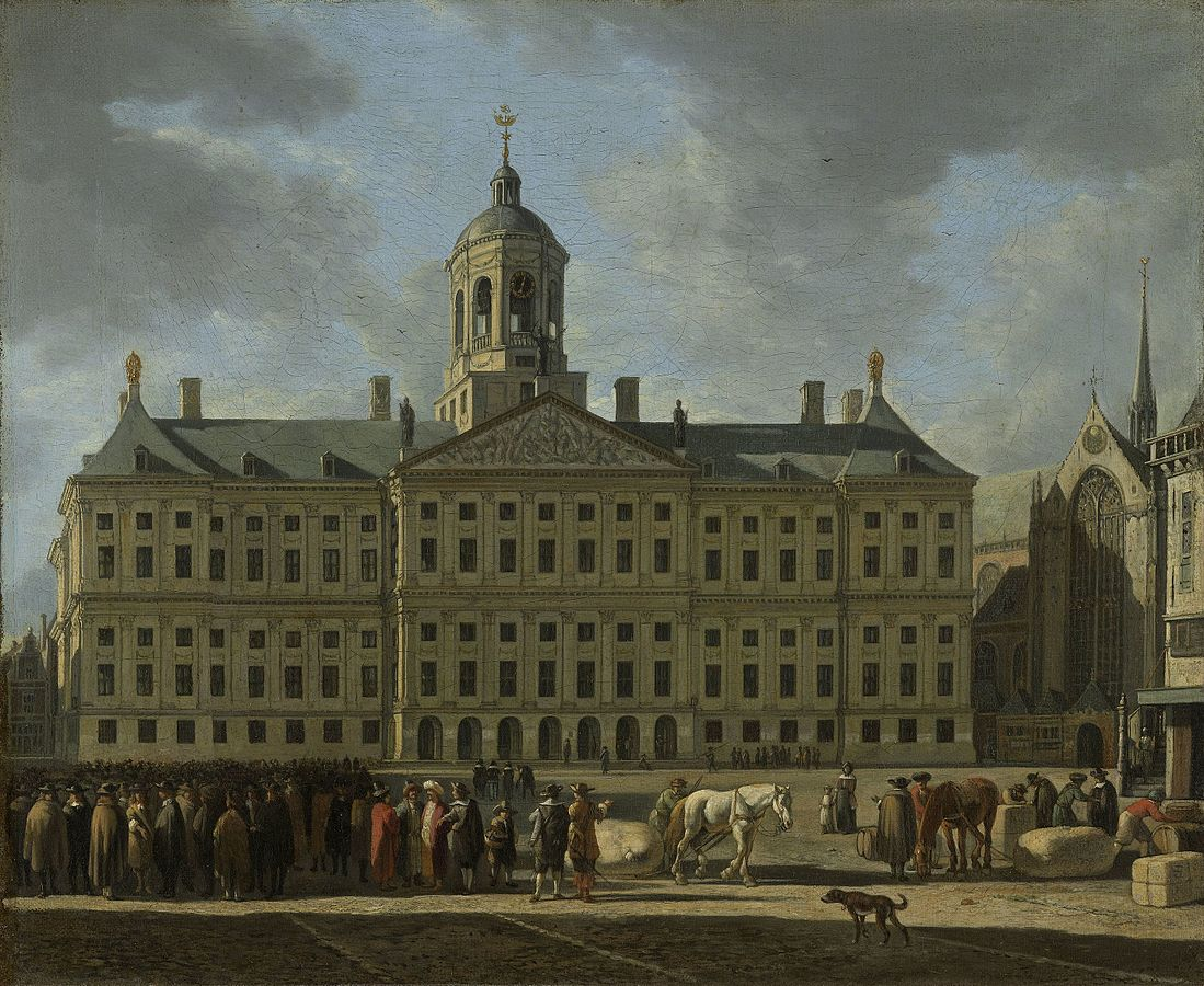 Gerrit Berkheyde, The city hall on Dam square  (1672).                                   (Image: Rijksmuseum Amsterdam)