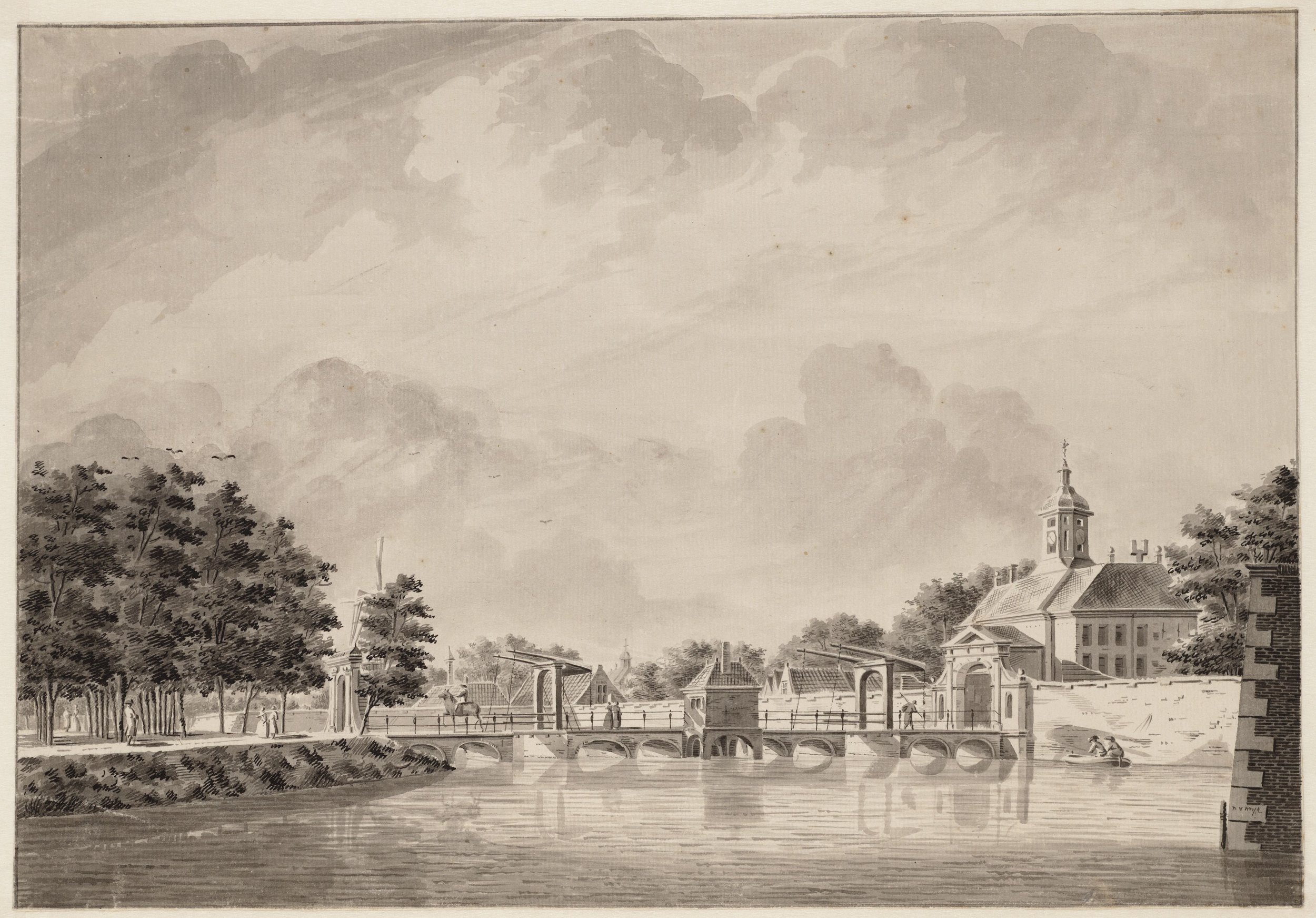 Dirk Verrijk, View on gateway the Weesperpoort  (ca. 1750)                               (Stadsarchief Amsterdam)