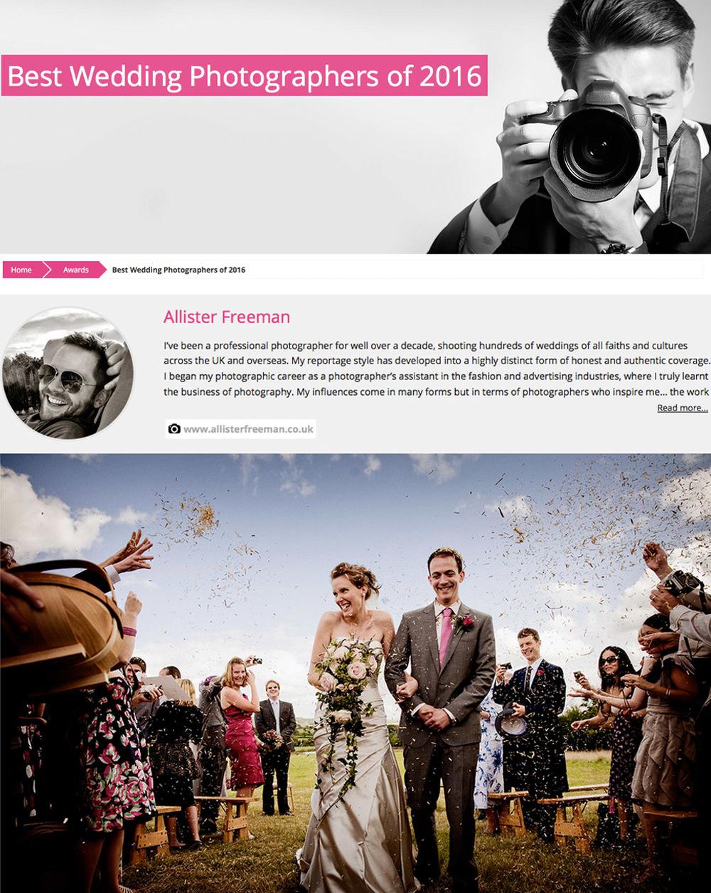 best wedding photographers 2016