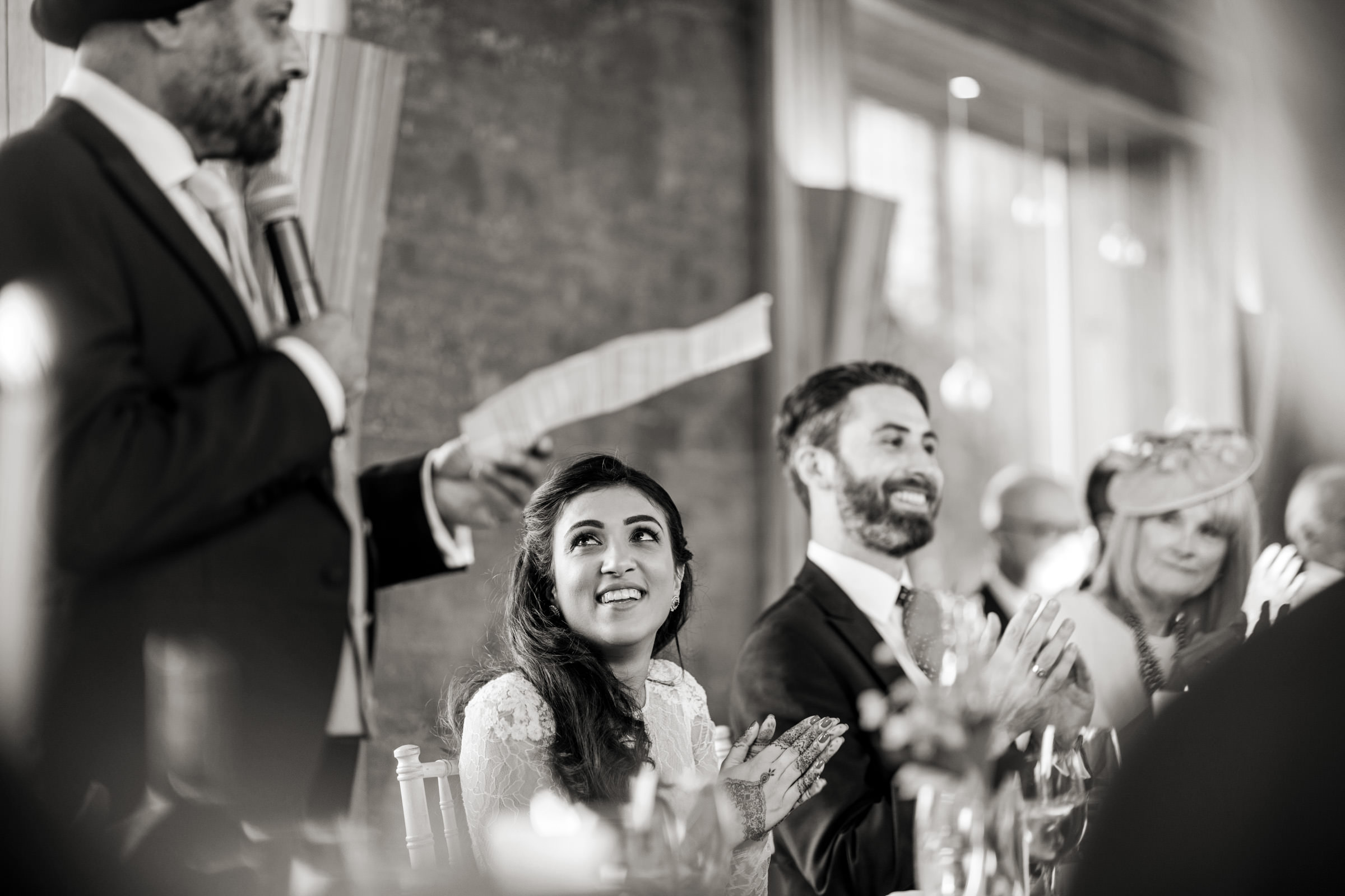 black and white wedding photography at Elmore Court