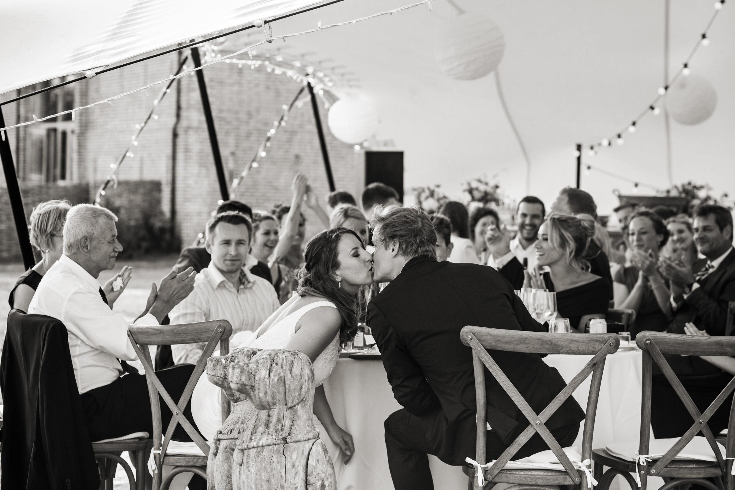 wedding reception at Gins Barn
