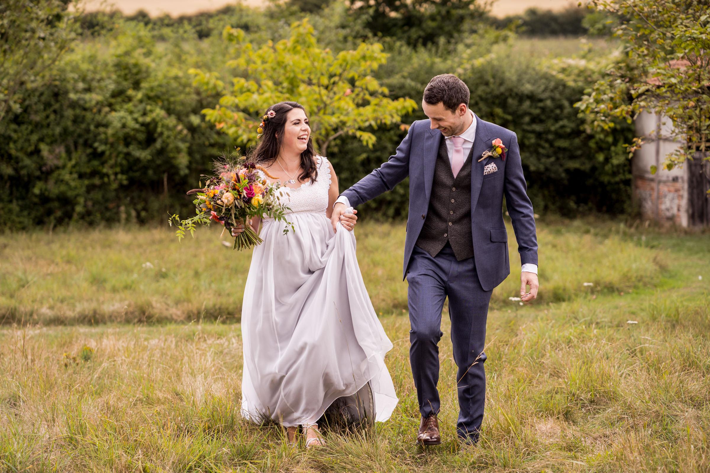 Clock Barn Hampshire Wedding couple