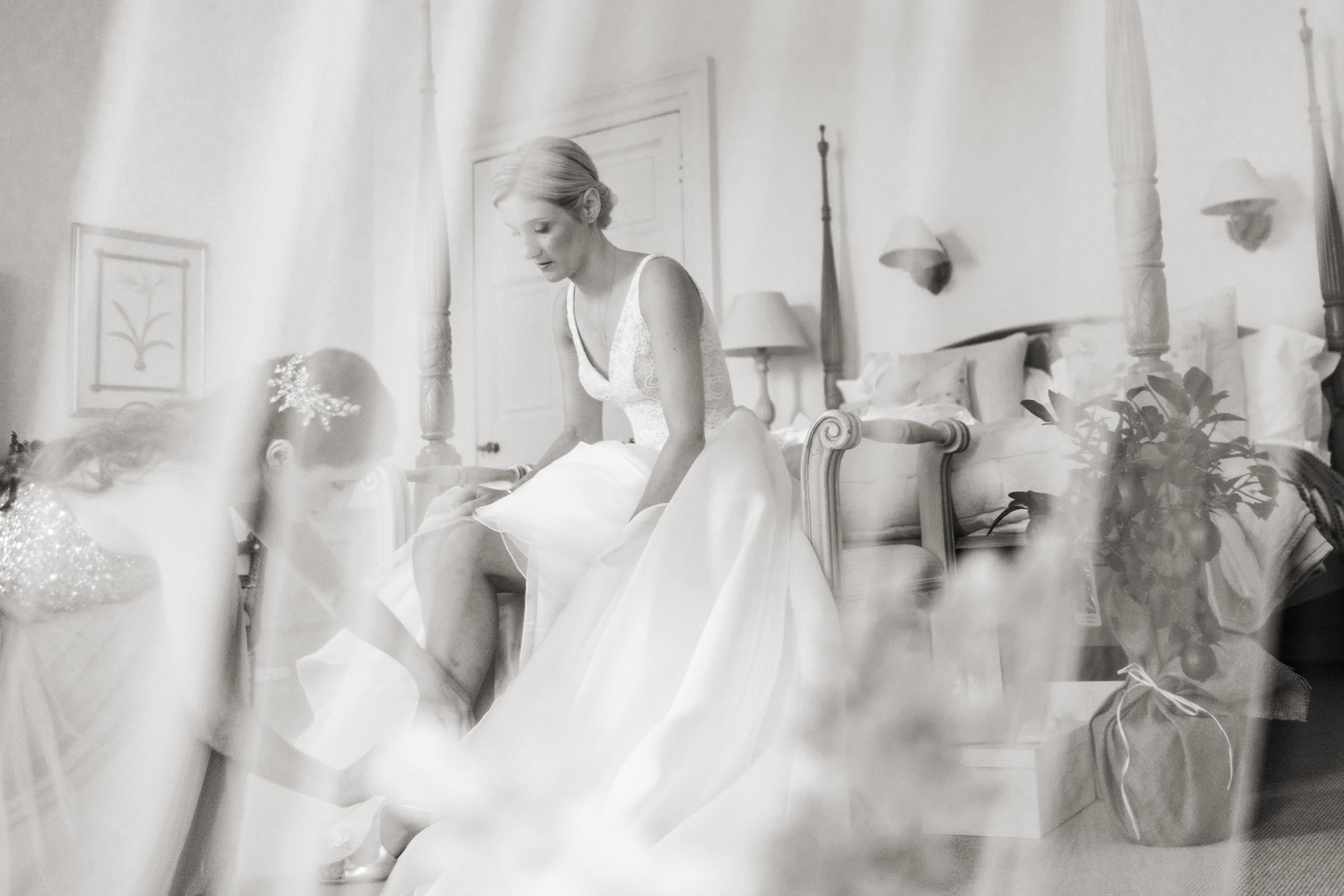 Pynes House Devon bridal prep Wedding Photography