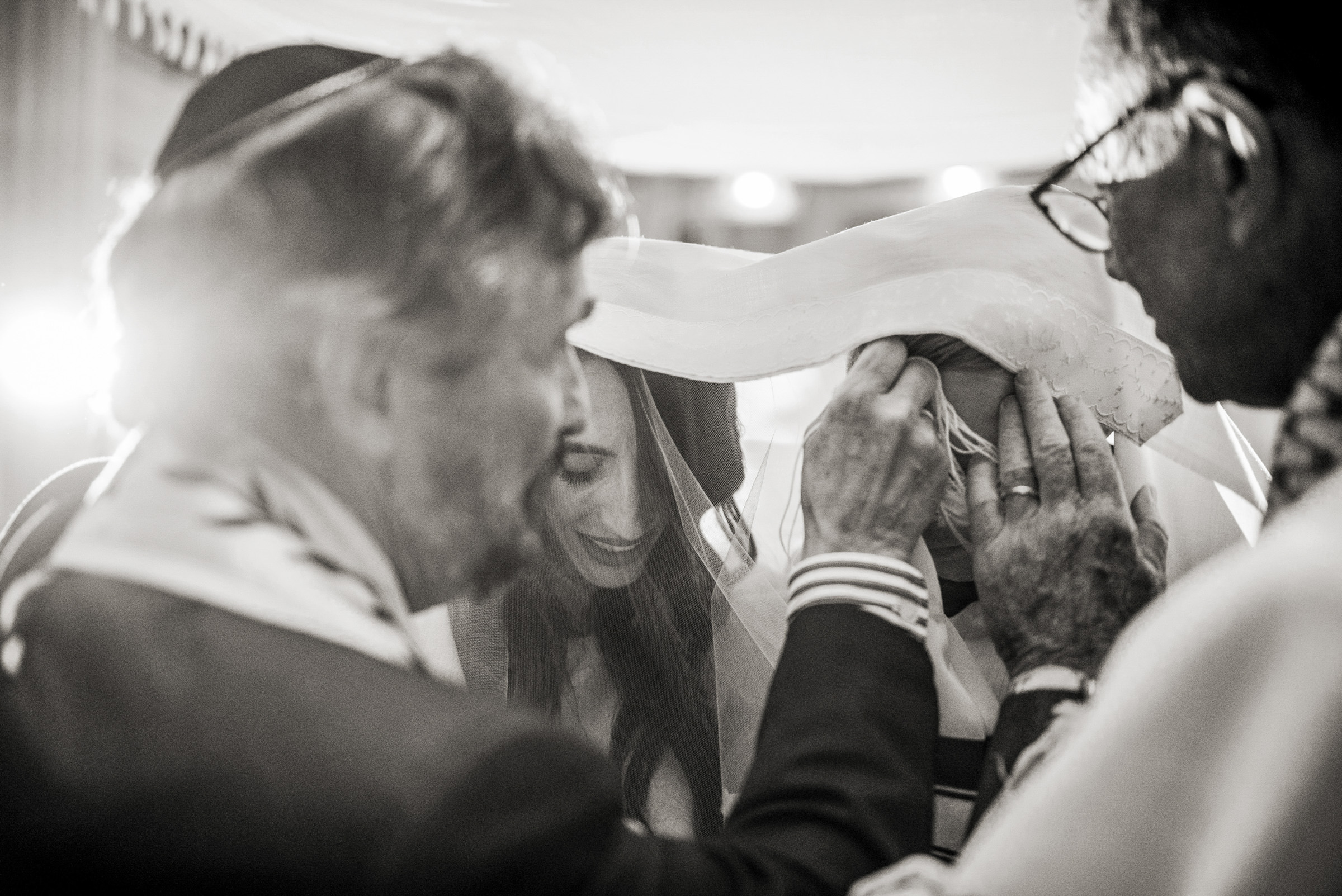 Natural Jewish Wedding Ceremony Photograph