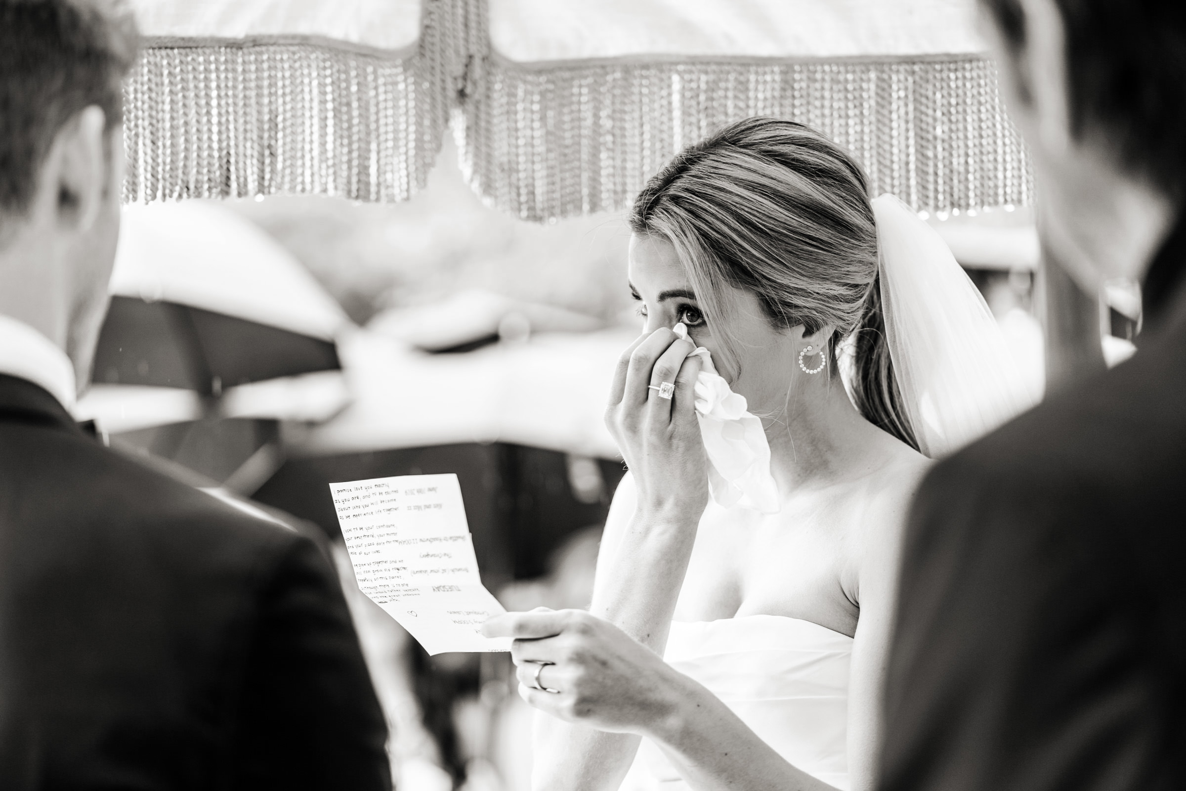 emotional wedding ceremony babington house