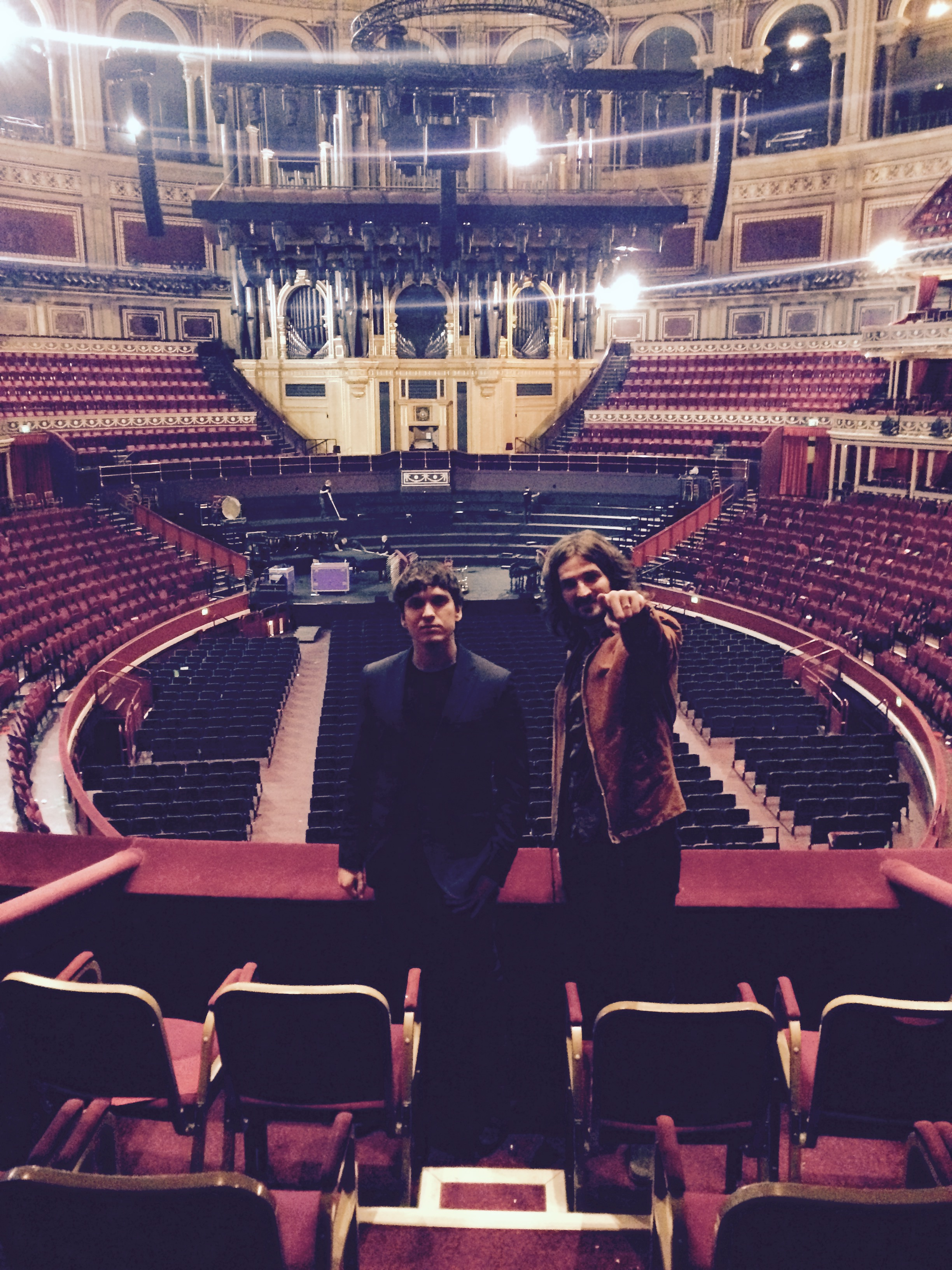 Pre-gig tour of the Royal Albert Hall