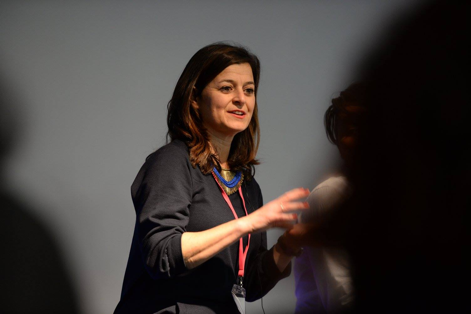 Susan speaking at the Women's Wellbeing Conference. London, January 2016