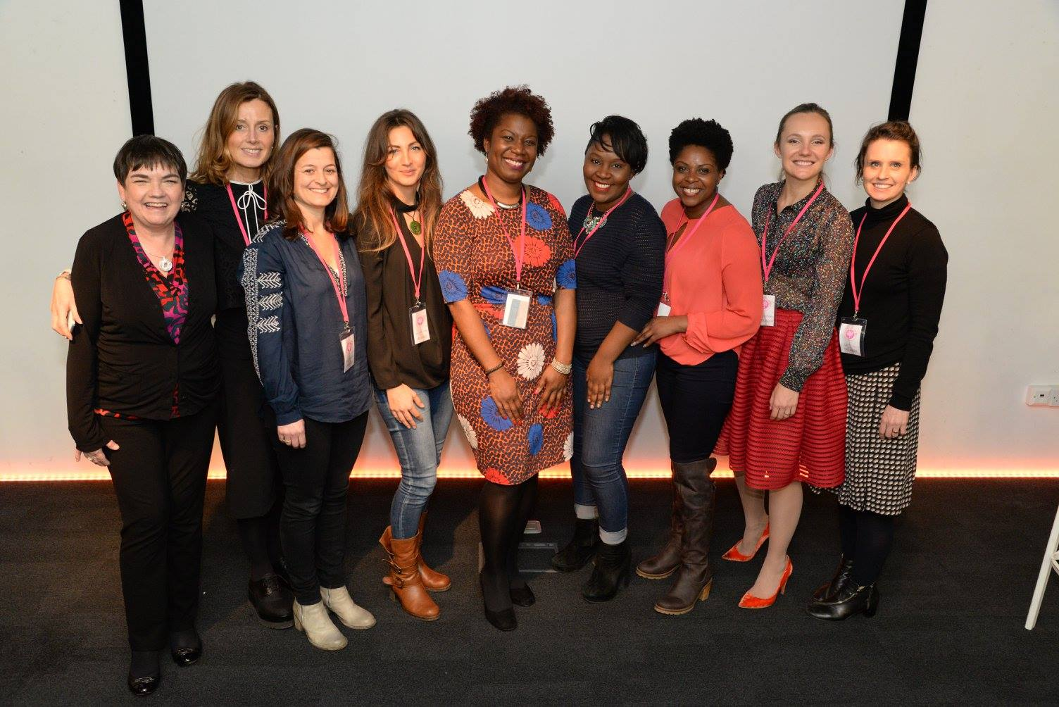Speakers at the Women's Wellbeing Conference. London, January 2016