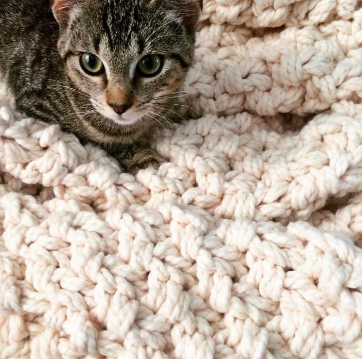 chunky knit blanket sweater blanket