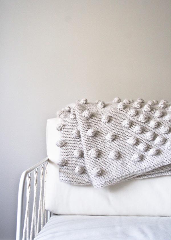 chunky knit bobble blanket pattern