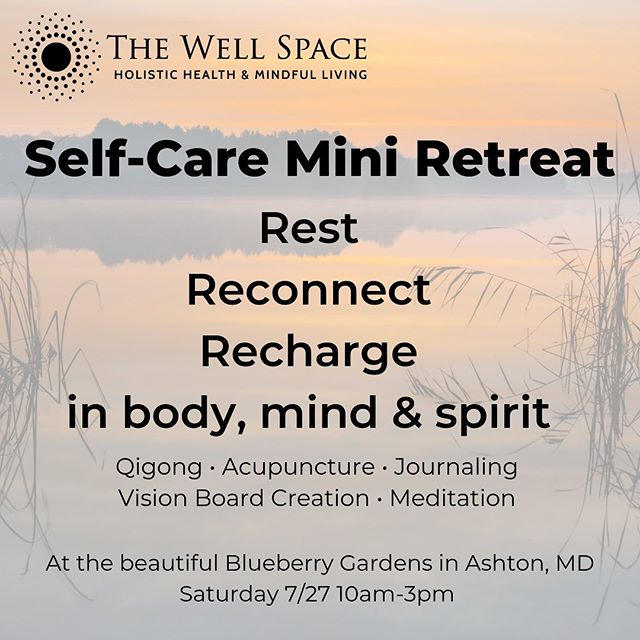 When I am aligned in body, mind and spirit,  I can do my life's work with confidence, Inspiration & love. That's why I'm very excited to be part of this mini-retreat dedicated to holding space for you  to connect with yourself. The event is at the beautiful blueberry Gardens in Ashton MD. . We will be offering qigong, meditation, vision boarding, journaling & acupuncture. . Save your spot , link is in bio.  #acupuncture #olney
