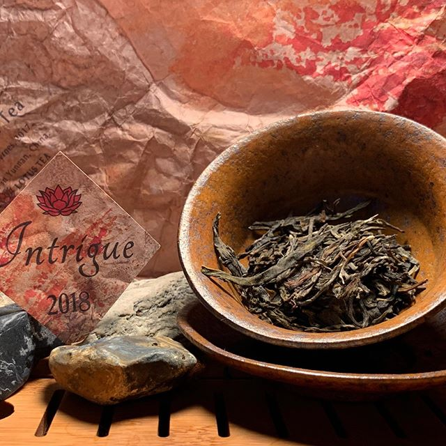 "Two of my favorite teas of 2018 came from @crimsonlotustea . . . The first was a sample of the jade rabbit Sheng puer I ordered which was amazing..... . The second which is pictured above is the Sheng puer ""intrigue"". What I really loved about this tea is that it is smooth, subtle and complex all at once. I probably brewed the tea 15 times. Every brew had great Qi and flavor. . .  You can tell @crimsonlotustea is passionate about what they do and take great care in crafting their tea. They fold in awesome art, tea ware and tea education. @lostinyunnan #crimsonlotustea #bestteaof2018"