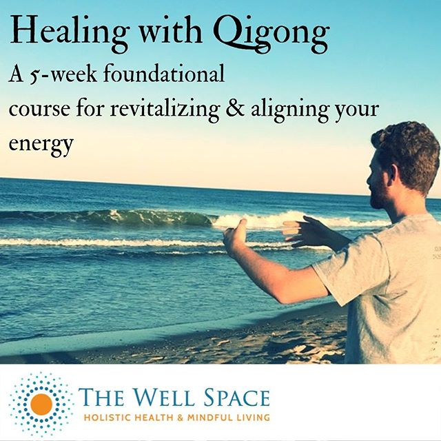 Qigong is the practice of cultivating life-force energy for the purposes of health, longevity & spiritual connection. It is a mind-body practice that incorporates posture, movement, breath, and focus.  This 5-week program is designed to give you the foundation of the practice of Qigong  It is designed to help you connect both with the tools inside you and the science of the generations to elevate your energy, clarity and peace of mind.  If you have chronic pain, are feeling stressed out too often, or lack the energy or motivation to do the things you love to do, this class is for you.  You will learn specific practices to enhance your body's energy, while also learning to quiet your mind, and feel your connection to your spiritual nature.  Space is very limited, so save your spot soon!  To sign up or for more information click on the link in the bio.  #heal #qigong #mindfulness #bodymindspirit