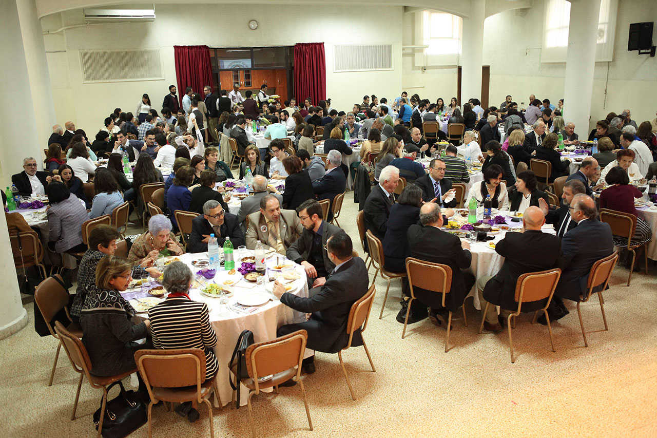 Around 200 people were present at the premise of the First Armenian Evangelical Church