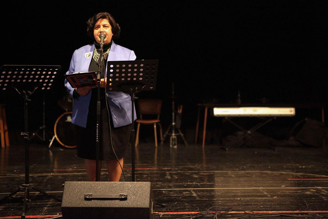 Mrs. Yester Kilaghbian emceeing