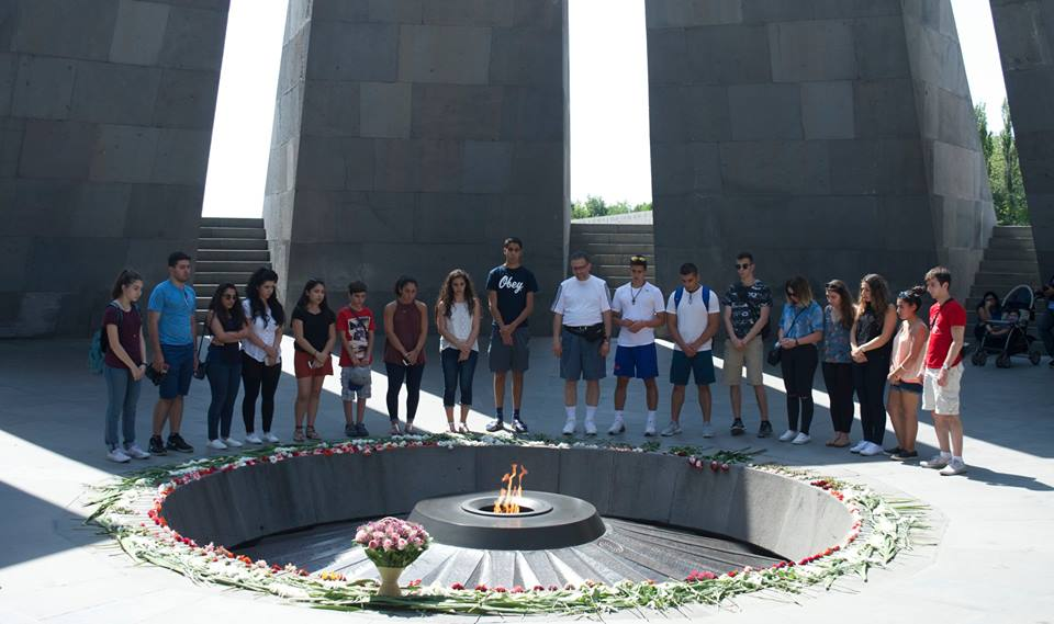 At the Armenian Genocide Monument