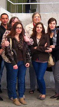 Sister Elisabeth visiting the Armenian Evangelical Emmanuel Church in November 2011