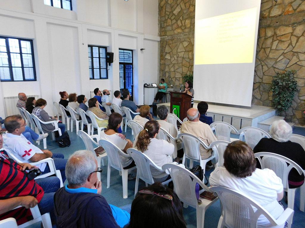 Ms. Vartoug Balekjian presenting the topic of being servant of God