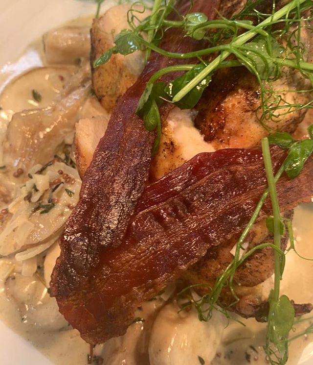 PAN FRIED BREAST OF CORNFED CHICKEN,