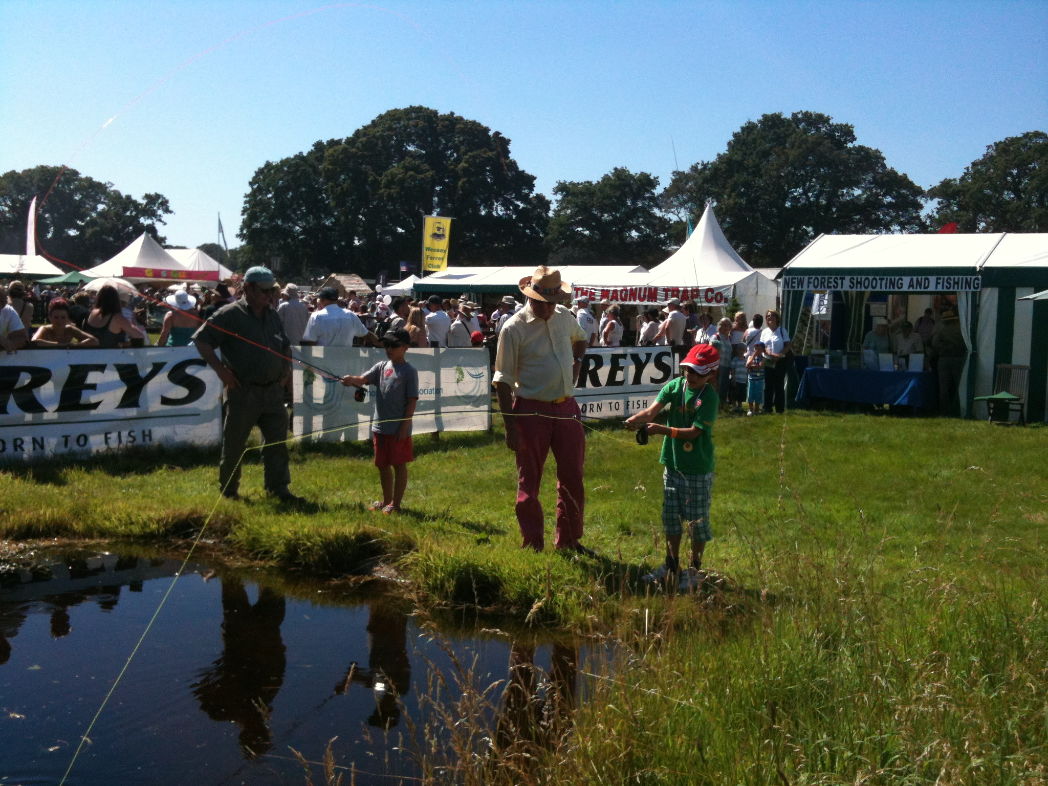 Have a go at casting a fly line in the Courntryside Area of the Show