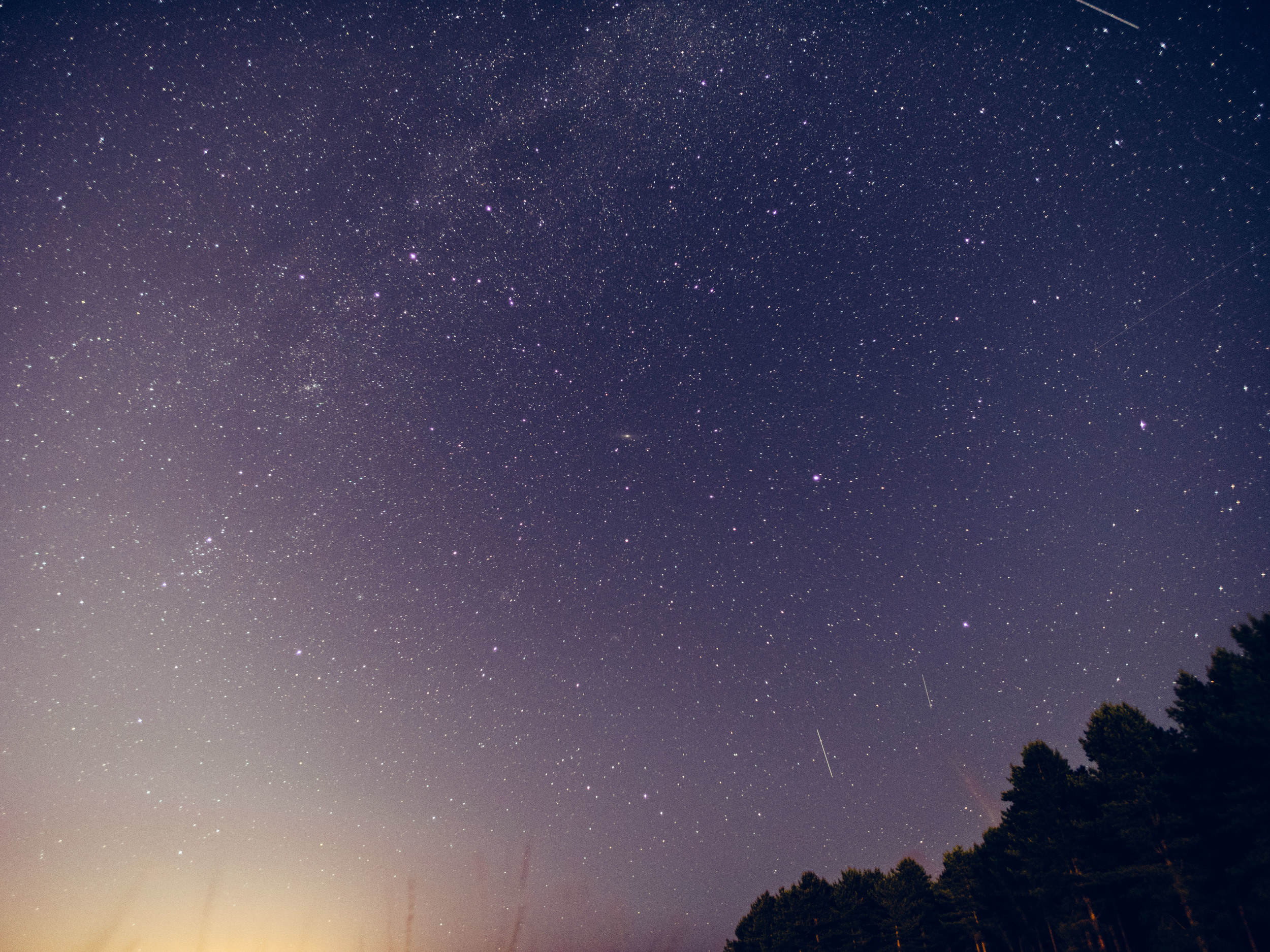 Five meteors in this frame.