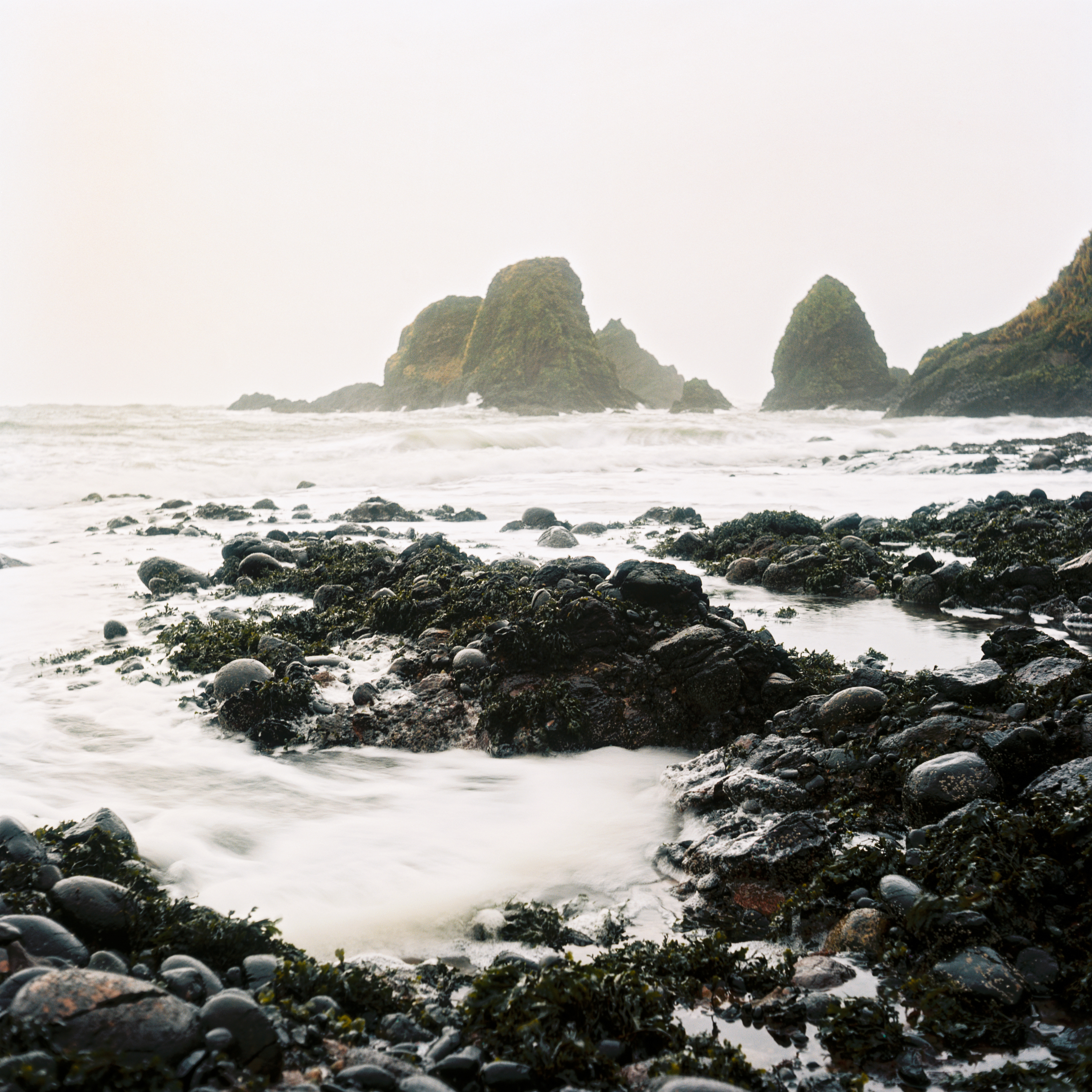 Rocks and waves - Kodak Ektar 100