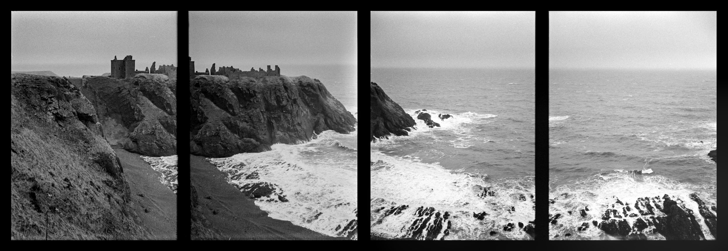 Dunottar Castle Panorama, shot on Canon Multi Tele